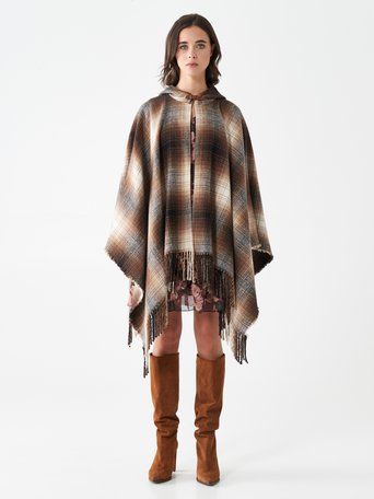 Plaid cape Var. camel beige - CFC0100891003B517