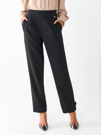 Crêpe trousers Black - CFC0100637003B001