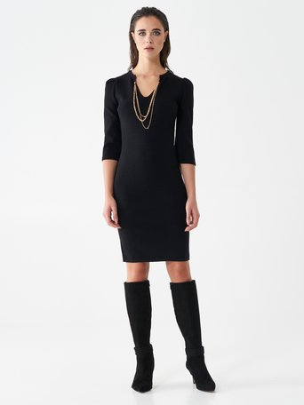 Chain sheath dress Black - CFM0010006003B001