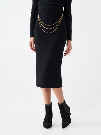 Chain pencil skirt Black - CFM0010000003B001