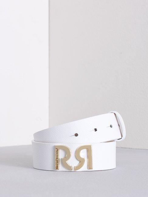 Cinturón de Cuero con Monograma Blanco - ACV0012466003B021