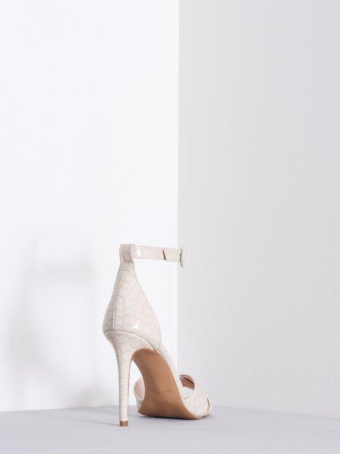 Sandalias con Estampado de Croco Beige - CAL0006040003B101