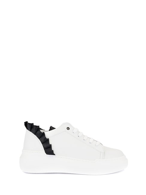 Ruched leather trainers White - CAL0006042003B021