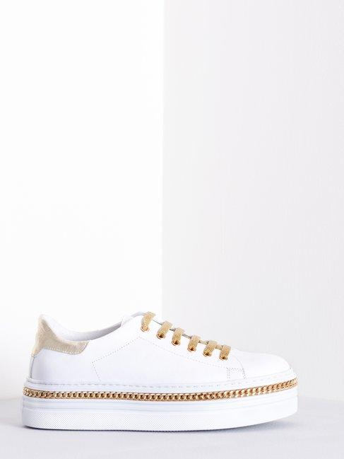 Sneakers in Pelle Bianco - CAL0006075003B021