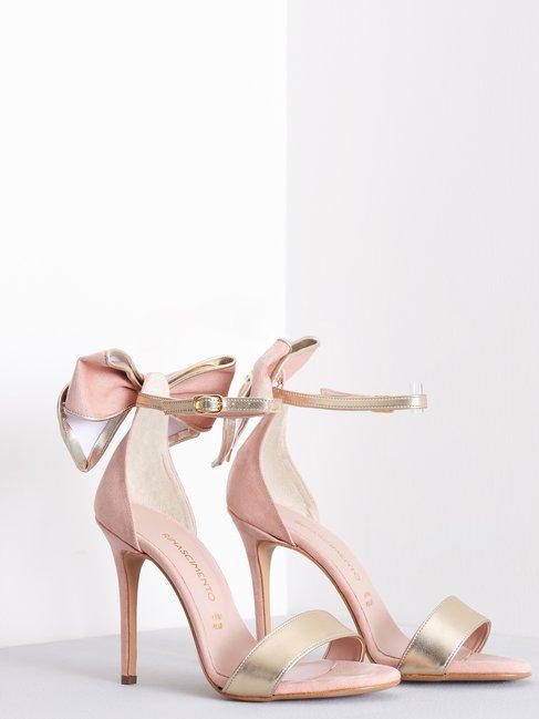 Sandali Alti con Fiocco Rosa Cipria - CAL0006118003B385