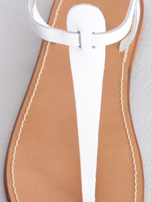Flip Flop Sandalen aus Leder Weiss - CAL0006140003B021