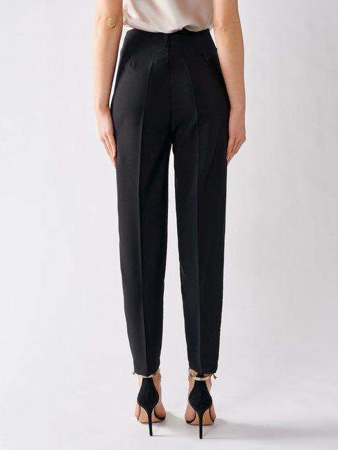 Pantalon Cigarette Taille Haute Noir - CFC0017183002B001