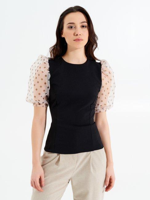 Рубашки / Блузки Black var Beige - CFC0017265002B006