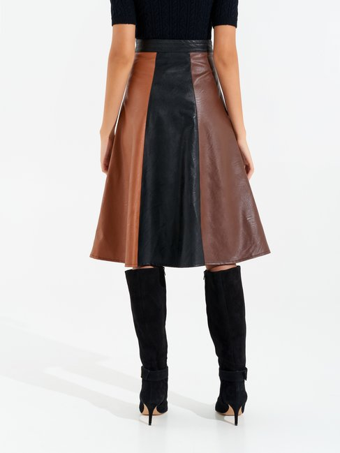 Leather skirt var brown - CFC0017412002B466