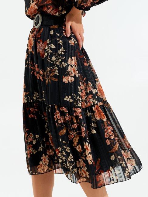 Romantic folk-style dress var black - CFC0017448002B473