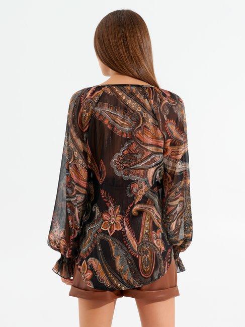 Paisley print blouse var black - CFC0017480002B473