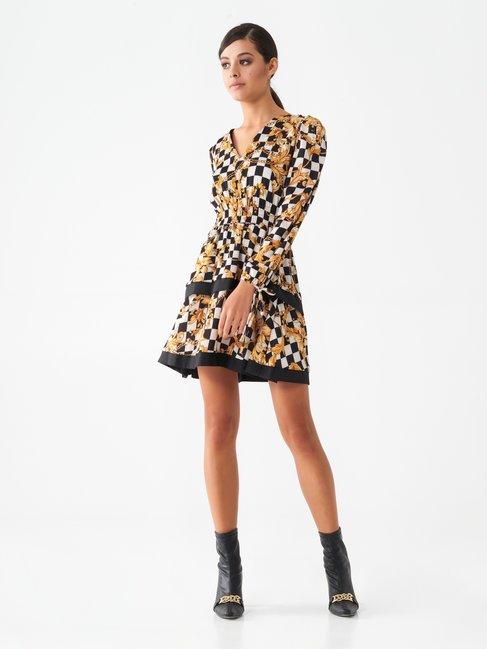 Short baroque print dress var black - CFC0017652002B473