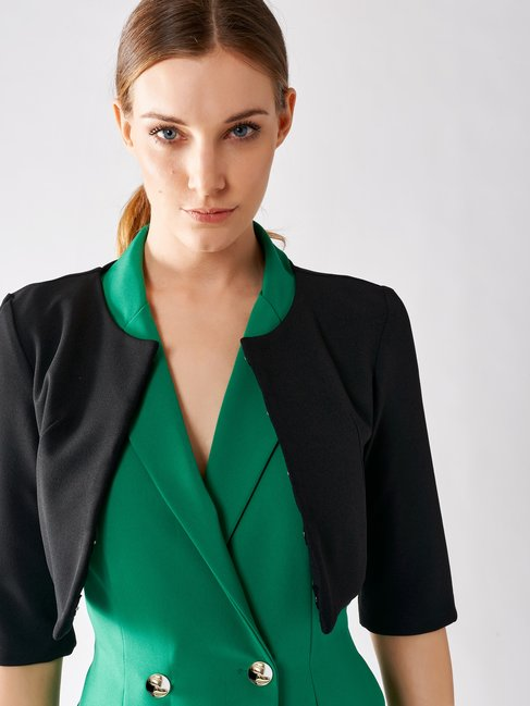 Crêpe Shrug Jacket Black - CFC0073477003B001