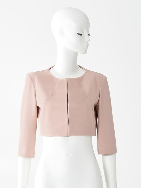 Crêpe Shrug Jacket Pink - CFC0073477003B221