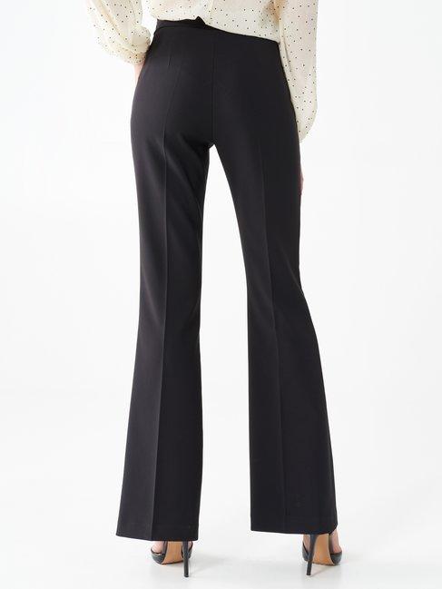Pantaloni Flare a Vita Alta Nero - CFC0089632003B001