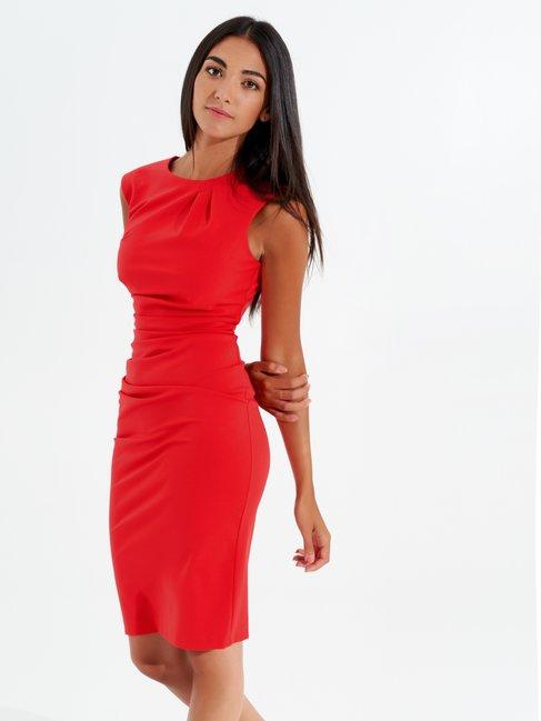 Sheath Sleeveless Dress Red - CFC0096723003B081