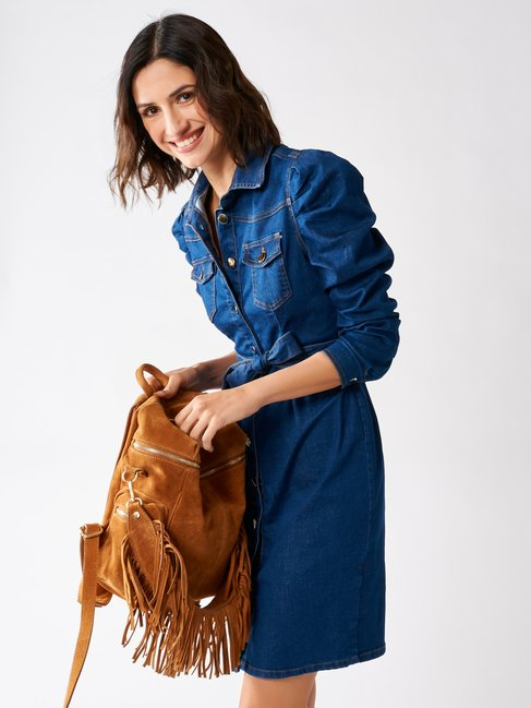 Short Denim Dress Blue - CFC0096860003B041