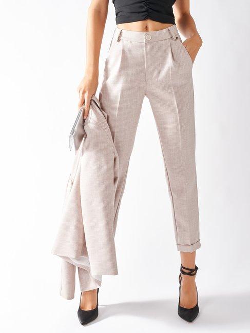 Pied-de-Poule Trousers var. Pink - CFC0096888003B476