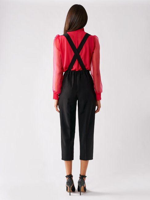 Cropped Trousers with Braces Black - CFC0096996003B001