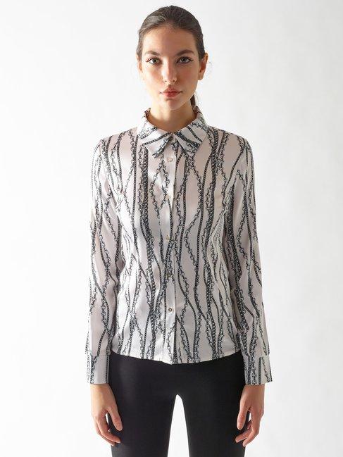 Printed Shirt var ivory - CFC0097018003B435