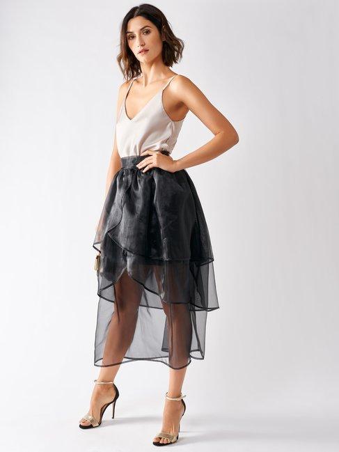 Organza Flounced Skirt Black - CFC0097049003B001