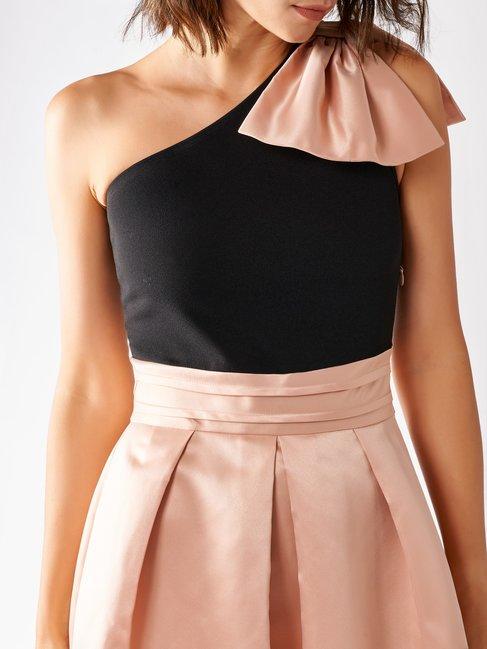 Short One-Shoulder Dress with Bow var. Pink - CFC0097158003B476