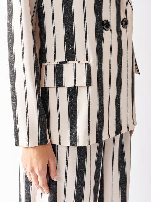 Striped Blazer var black - CFC0097186003B473
