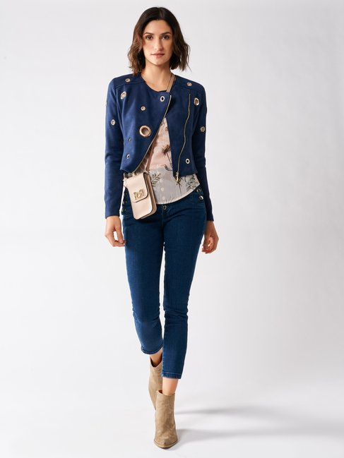 Dainetto Jacket with Zip Blu Navy - CFC0097251003B056