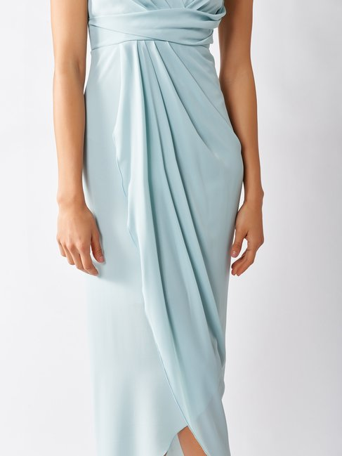Robe Longue Empire Verde Menta - CFC0097302003B411
