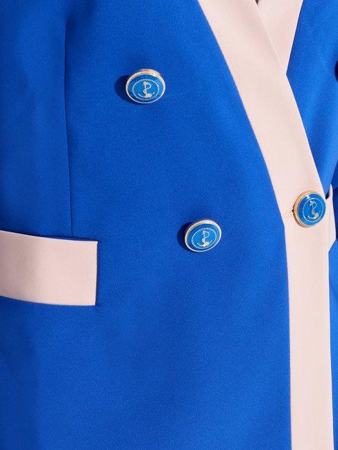 Chaqueta Cruzada Bicolor Var. Azul China - CFC0097445003B442