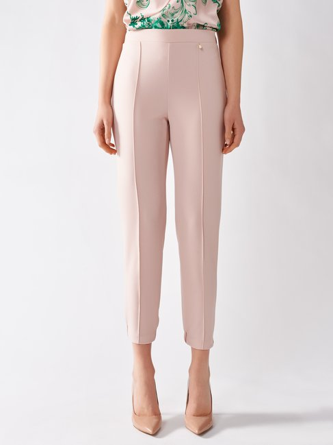 Pants in Scuba Crêpe Pink - CFC0097450003B221