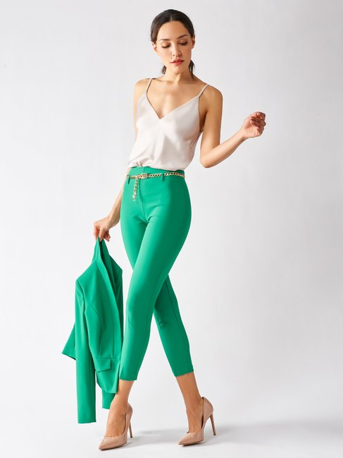 Cropped Tight Pants Green - CFC0097458003B141