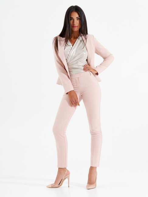 One Button Shaped Jacket Pink - CFC0097481003B221