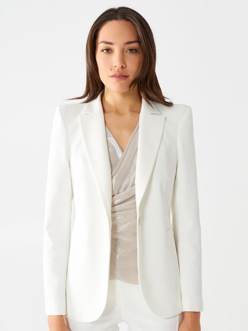 Flared Blazer White - CFC0097484003B021