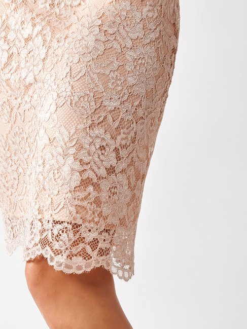 Shaped Lace Dress Pink - CFC0097493003B221