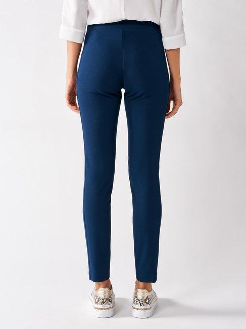 Skinny Pants in Scuba Crêpe Blue - CFC0097496003B041