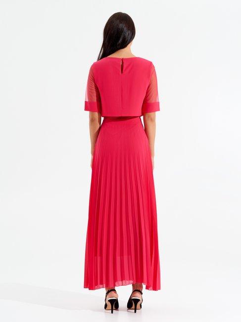 Daydream Long Plissé Dress fuxia - CFC0097782003B238