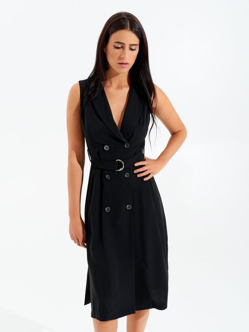 Blazer-style Sleeveless Dress Black - CFC0097978003B001