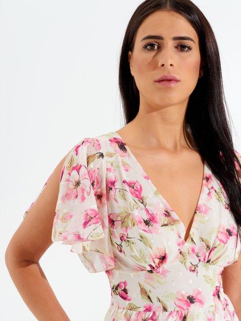 Short Flounced Dress var fuxia - CFC0098215003B447