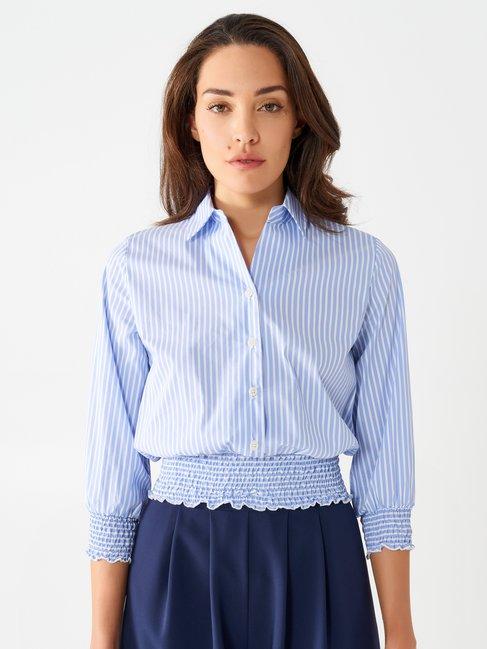 Striped Boxy Shirt var light blue - CFC0098240003B426
