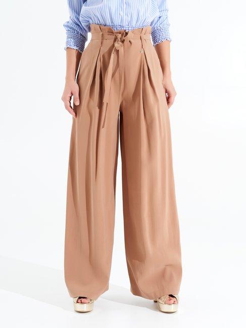 High-rise Viscose Trousers Mud brown - CFC0098266003B136