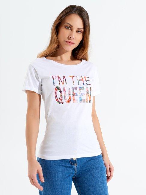 T-shirt Queen Blanc - CFC0098354003B021