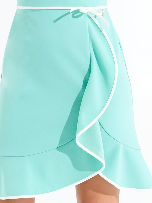 Short Dress with Piping var green water - CFC0098392003B494