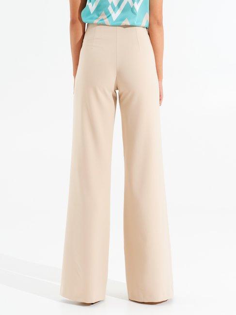 Pantaloni Flare con Bottoni Sabbia beige - CFC0098401003B115