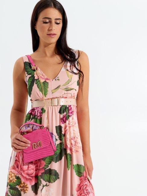 Vestido Largo Floral Var. Rosa - CFC0098564003B476
