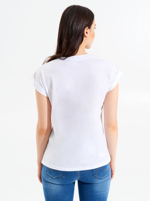 Cotton T-Shirt with Bow White - CFC0098899003B021