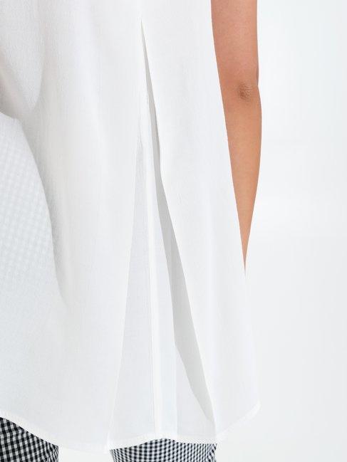 Sleeveless Viscose Blouse White - CFC0099077003B021