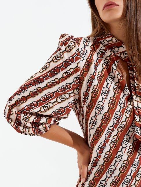 Retro A-line dress var brown - CFC0099483003B466