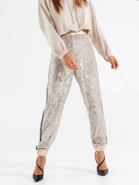Diamond-print joggers Silver - CFC0099498003B265