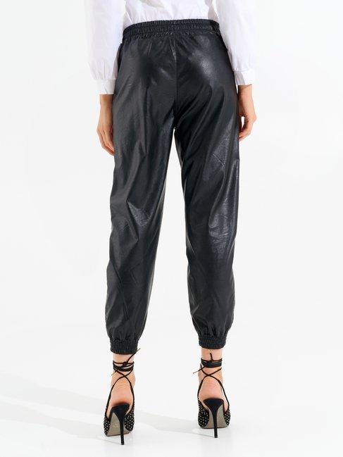 Faux leather joggers Black - CFC0099568003B001